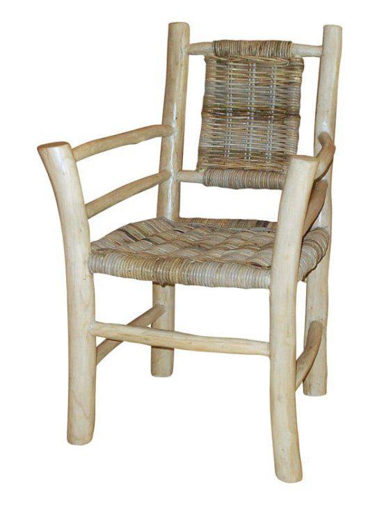 Καρέκλα Από Ακατέργαστο Ξύλο Teak Ε-227008