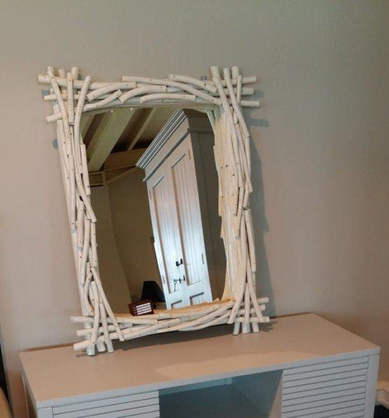Καθρέφτης Από Θαλασσόξυλα J-330086