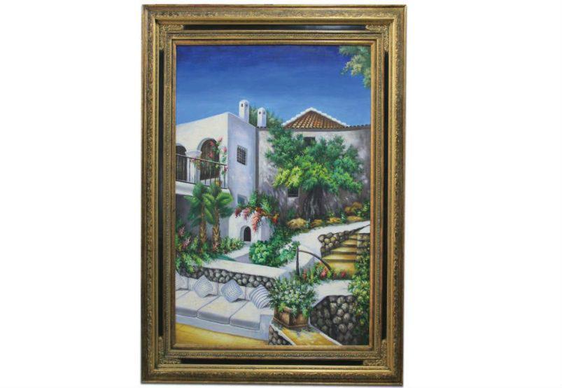 """Κλασικός Πίνακας """"Πέτρινο Σπίτι"""" G-210393"""