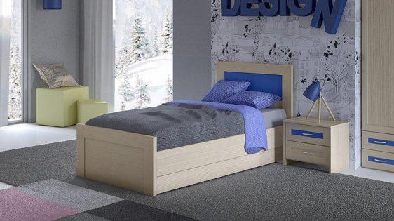 Παιδικό και εφηβικό μονό κρεβάτι S-405002