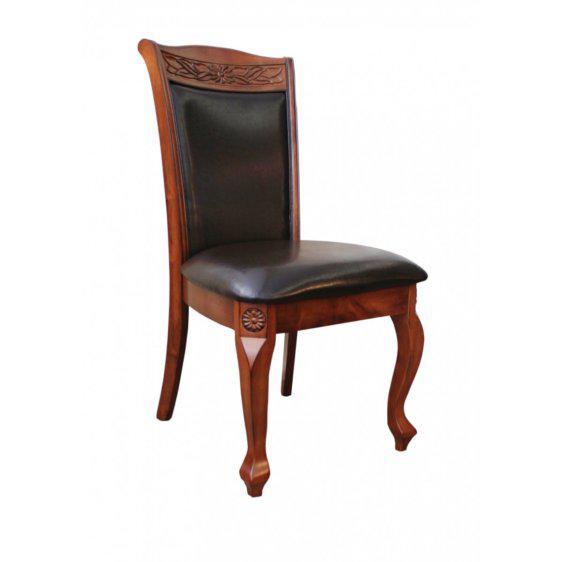 Νεοκλασσική δερμάτινη καρέκλα G-135079