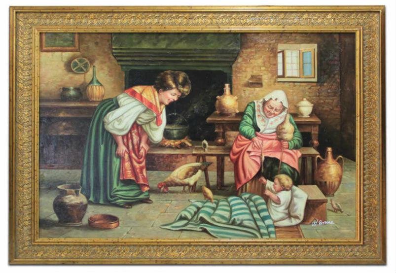 """Πίνακας Σε Οριζόντια Διάταξη με θέμα """"Οικογενειακές Στιγμές"""" G-210394"""