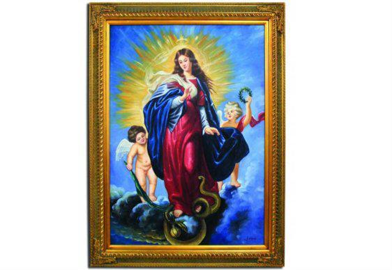 Κάθετος Πίνακας 90Χ120 Με Την Τεχνική Της Ελαιογραφίας G-210395