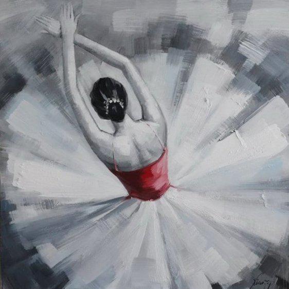 Πίνακας 'κόκκινη μπαλαρίνα' 80Χ80