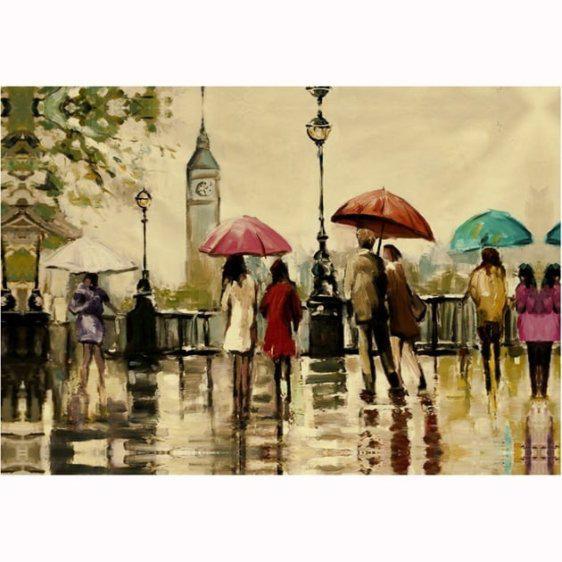 Βροχερή ημέρα στο Λονδίνο 80Χ120