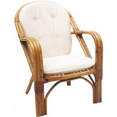 Πολυθρόνα Μπαμπού Με Καπιτονέ Μαξιλάρι E-225010