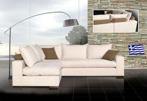 Γωνιακός Καναπές Με Αναπαυτικό Κάθισμα C-100069