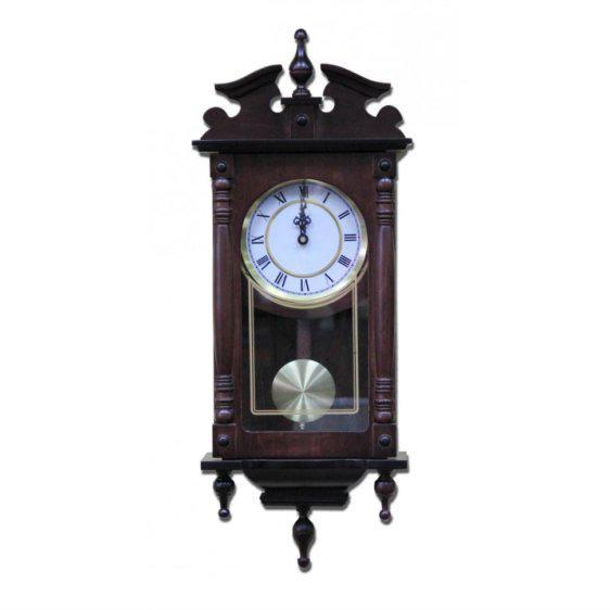 Ξύλινο Ρολόι Τοίχου Με Κολωνάκια G-147574