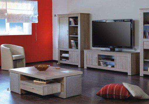 Σύνθεση Σαλονιού Country Με Δύο Βιβλιοθήκες Και Έπιπλο Τηλεόρασης A-130025