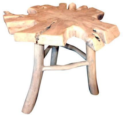 Σκαμπό Από Ρίζα Δέντρου Teak Ε-227013