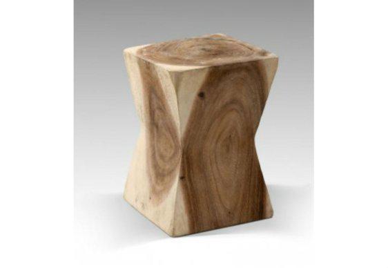 Χαμηλό Ξύλινο Σκαμπό Από Κορμό Δέντρου J-146523