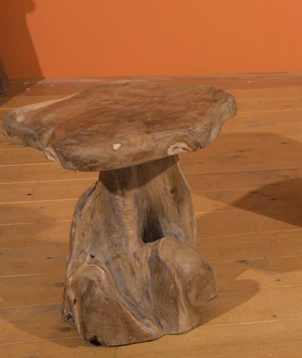 Σκαμπό Με Βάση Ρίζα Δέντρου Teak Ε-227000