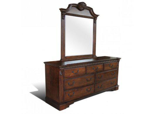 Τουαλέτα Κρεβατοκάμαρας Με Καθρέφτη Και Αντικέ Χερούλια G-370173