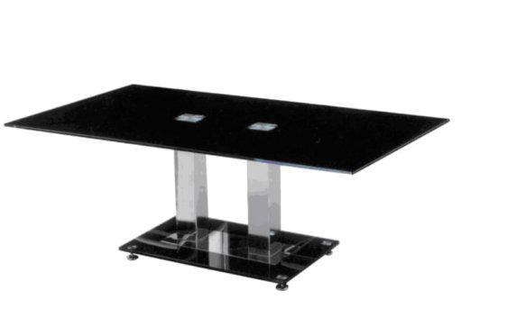 Μοντέρνο Τραπεζάκι Σαλονιού Με Μαύρο Τζάμι  Z-117548