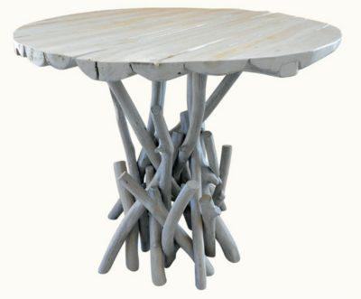Στρογγυλό Τραπέζι Φ80 Από Κλαριά Δέντρου Ε-227002