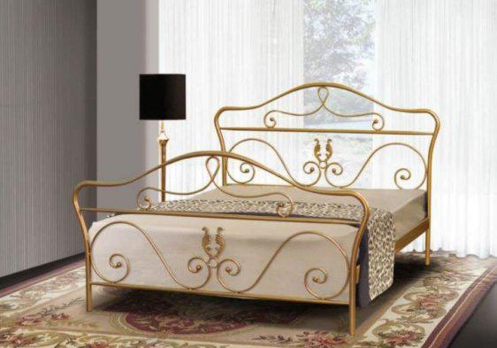 """Χρυσό Μεταλλικό Κρεβάτι """"Ελισάβετ""""  Μ-050631"""