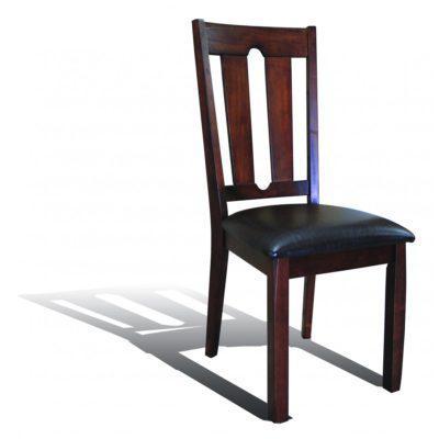 Ξύλινη καρέκλα με δέρμα G-135066