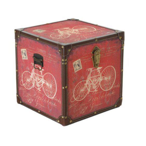Κόκκινο Μπαούλο Με Θέμα Ποδήλατο Η-300031