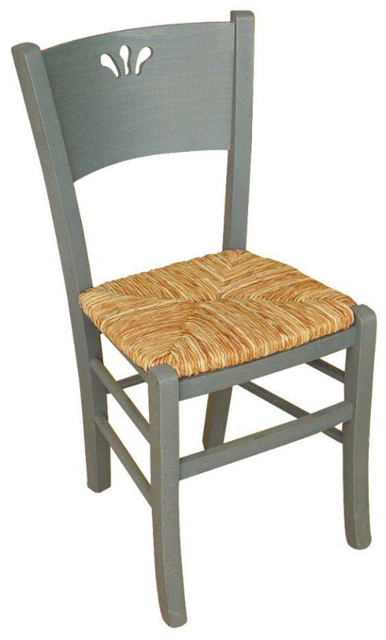 Ξύλινη Καρέκλα Κουζίνας με Φυλλαράκια Κ-190316