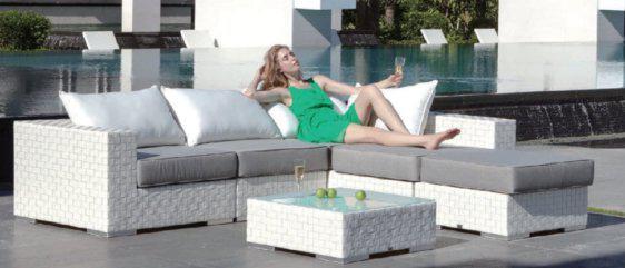 Γωνιακός καναπές για τη βεράντα σας απο wicker A-Alexia
