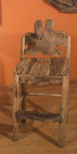 Σκαμπό Για Μπαράκι Με Πλάτη Από Ρίζα Δέντρου Ε-227030