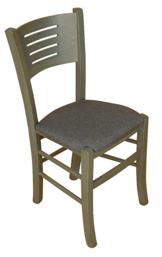 Καρέκλα Με Οξένιο Σκελετό και Σχέδιο Γραμμές Κ-190320