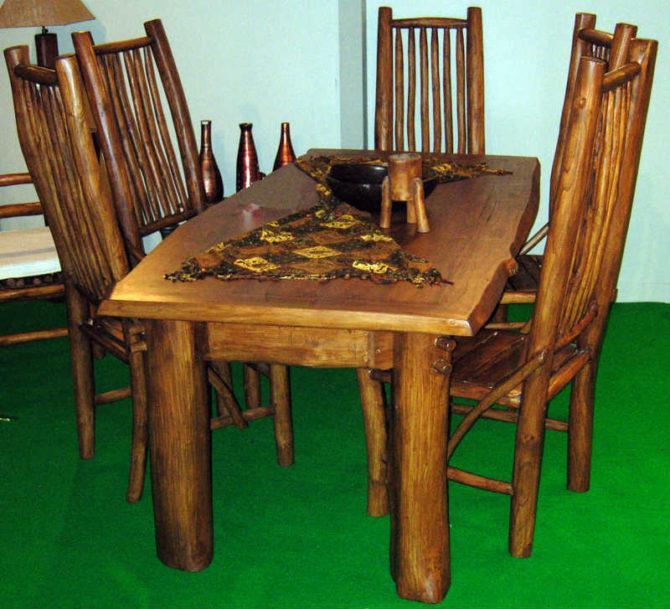 Τραπέζι Από Ακατέργαστο Ξύλο Διαστάσεων 180Χ90Χ75 Ε-227033