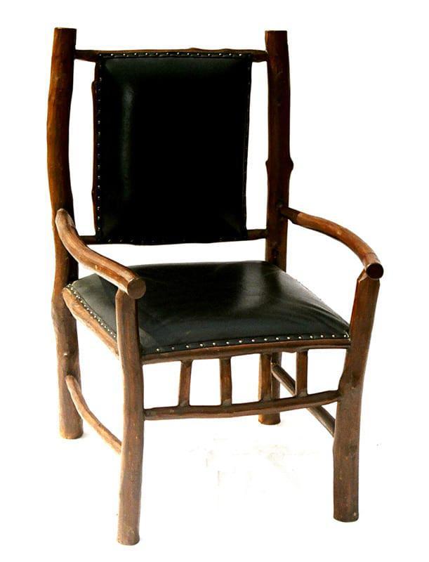 Ξύλινη Πολυθρόνα Με Δέρμα Ε-227035