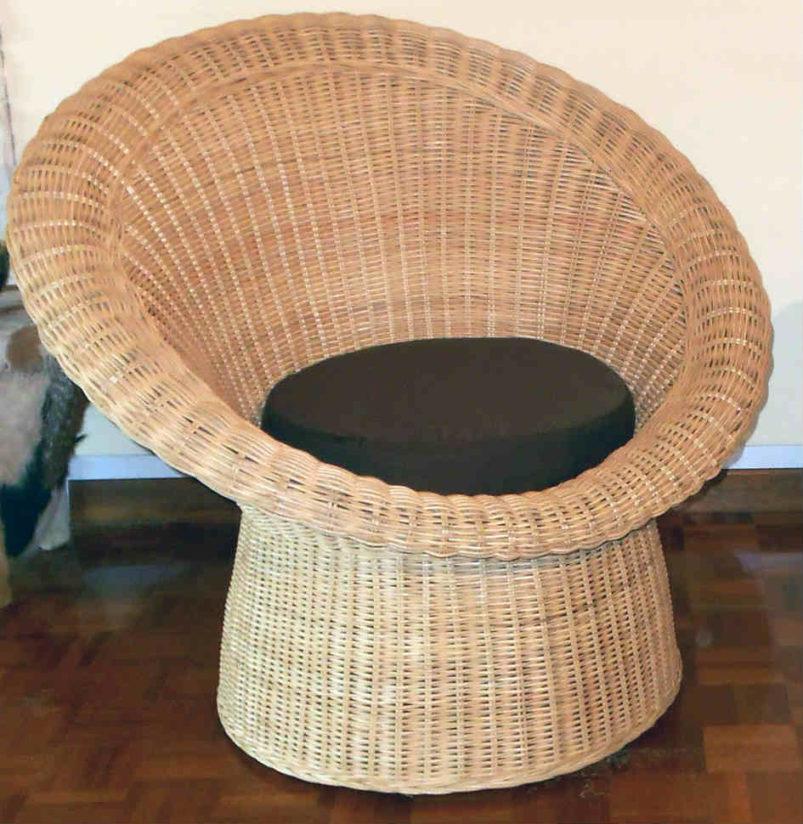 Κυκλική Καρέκλα Από Φυσικό Rattan Ε-220223