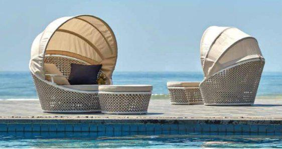 Καναπές Παραλίας με Σκέπαστρο Α-220388