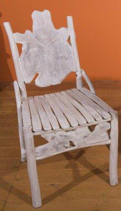 Καρέκλα Εστιατορίου Λευκή Από Ρίζα Teak E-227020