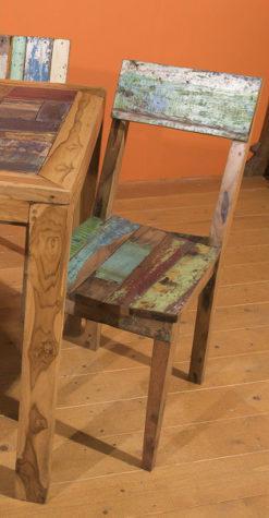 Ξύλινη Πολύχρωμη Καρέκλα Εστιατορίου Ε-146539
