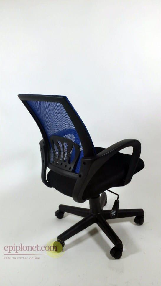 Μαύρη καρέκλα γραφείου με διχτυωτή πλάτη Ζ-080329