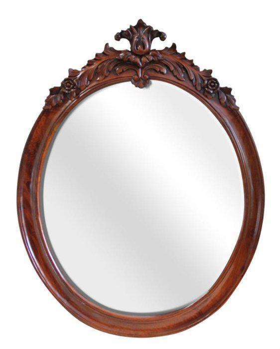 Σκαλιστός Καθρέφτης Από Μαόνι G-330088