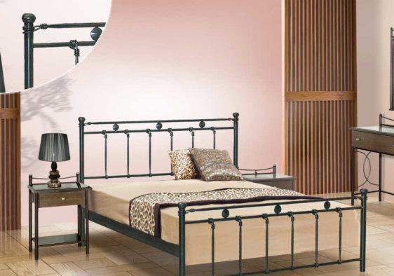 Κρεβάτι Από Μέταλλο Με Σχέδιο Κύκλους M-050632