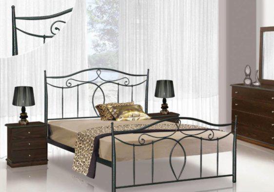 Κρεβάτι Με Μεταλλικό Σκελετό Σταυρός  M-050627
