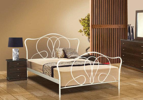 Λευκό Μεταλλικό Κρεβάτι Τουλίπα Μ-050635