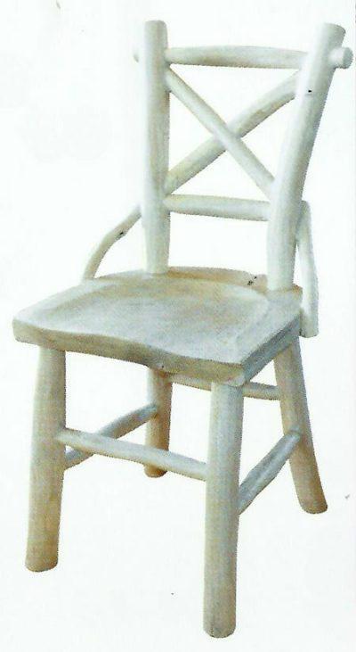 Παραδοσιακή Καρέκλα Με Χιαστή Σχέδιο Στην Πλάτη E-227018