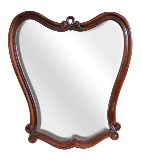 Ξύλινο Κλασσικός Καθρέφτης Σε Σχήμα Καρδιάς G-330089