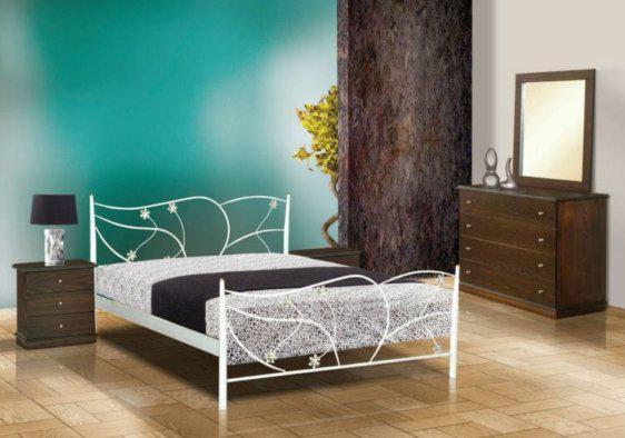 Κρεβάτι Μεταλλικό Με Μαργαρίτες Μ-050636