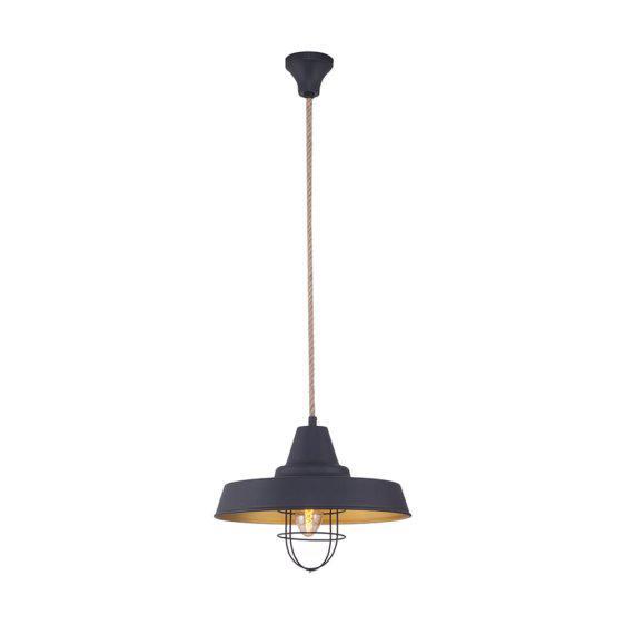 Φωτιστικό Μαύρο Με Χρυσό Industrial Κ-521046