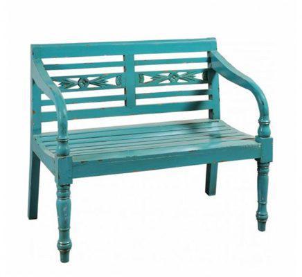 Vintage Ξύλινος Καναπές Πράσινος ή Λευκός J-142529