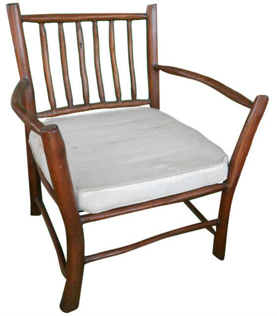Ξύλινη Πολυθρόνα με Μαξιλάρι Ε-227037