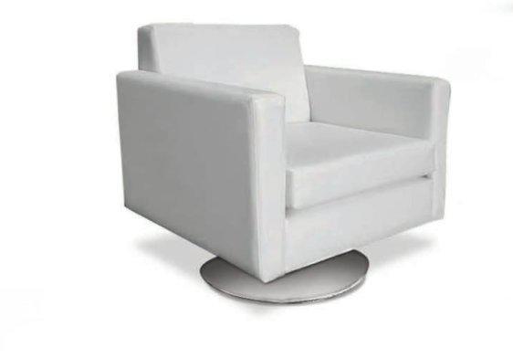 Μοντέρνα Πολυθρόνα Με Στρογγυλή Μεταλλική Βάση C-132562