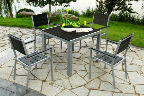 Προσφορά Τραπέζι Με Καρέκλες Από Συνθετικό Απομίμησης Ξύλου Sar-220384