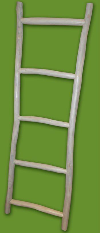Διακοσμητική Σκάλα Από Κορμό Δέντρου Teak E-147578
