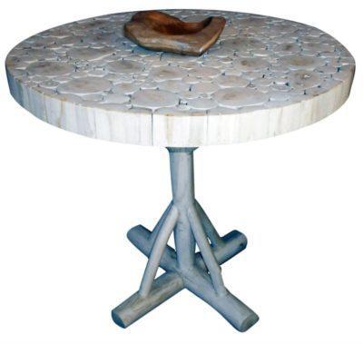 Στρογγυλό Τραπέζι Φ80 Από Τροπικό Δέντρο Ε-227046