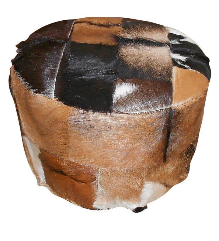 Στρογγυλό Σκαμπό Με Γνήσιο Δέρμα Ε-315091