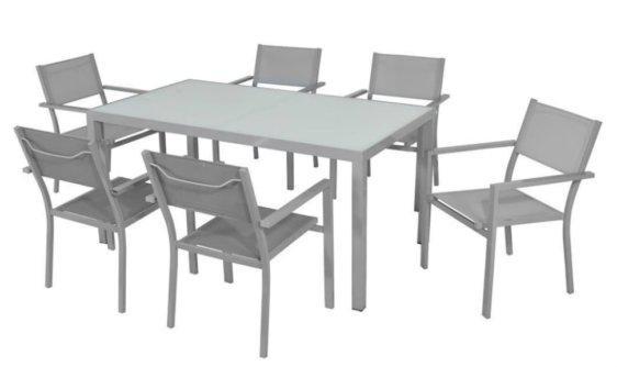 Προσφορά Σετ Με Μεγάλο Τραπέζι και 4 Καρέκλες Sar-220378