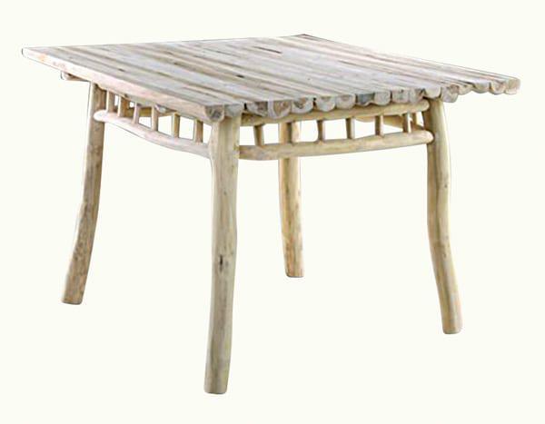 Ξύλινο Τετράγωνο Τραπέζι Φαγητού Ε-227045